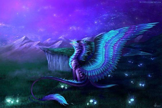 purplefeatheredwingdragon